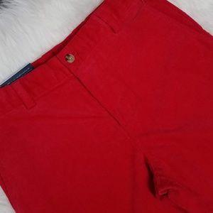 Vineyard Vines Corduroy Breaker Pants Sz 16 Red